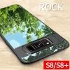 (618-002)เคสมือถือไอโฟน Case Samsung S8+ เคสขอบนิ่มพื้นหลังพลาสติกใสสไตล์กันกระแทก ROCK งานดี