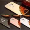 (025-071)เคสมือถือซัมซุง Case Samsung Galaxy S7 Edge เคสกรอบโลหะพื้นหลังอะคริลิคแวววับคล้ายกระจกสวยหรู