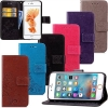 (472-008)เคสมือถือไอโฟน case iphone 6Plus/6S Plus เคสนิ่มสไตล์สมุดเปิดข้างลายดอกไม้สไตล์วินเทจแอบสแตกอาร์ต
