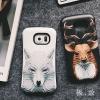 (496-009)เคสมือถือซัมซุง Case Samsung Galaxy S7 เคสนิ่มสไตล์กันกระแทกลาย 3D กราฟฟิคหมาป่า กวาง นกฮูก