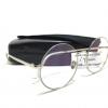 แว่นกันแดดแฟชั่น Round Silverframe Transparent Sheet 8386 64-15 124 <ใส>
