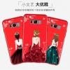 (025-763)เคสมือถือ Case Samsung S8+ เคสนิ่มซิลิโคนลายการ์ตูนผู้หญิง ขอบเพชรพร้อมสายคล้องคอถอดแยกได้