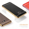 (025-291)เคสมือถือซัมซุง Case Samsung S7 Edge เคสนิ่มขอบชุบแววพื้นหลังลายหนัง