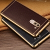 (025-340)เคสมือถือ Case Huawei GR5 2017 เคสนิ่มขอบชุบแววพื้นหลังลายหนัง