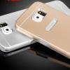 (373-022)เคสมือถือซัมซุง Case Samsung S6 เคสนิ่มฝาหลังโลหะแบบบางสไตล์ 2 ชิ้น