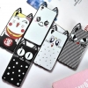 (025-471)เคสมือถือ Case OPPO F1 Plus (R9) เคสนิ่มแมวหูยาวน่ารักๆ