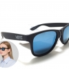 แว่นกันแดด Vans Spicoli 4 Matte Black/Blue <ปรอทน้ำเงิน>