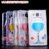 (022-080)เคสมือถือซัมซุง case samsung A7 เคสนิ่มใสแก้วไวน์คริสตัลขาแก้วใช้เป็นขาตั้งเคส