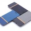 (651-007)เคสมือถือ Case Huawei Honor 5A/Y6II เคสนิ่มฝาพับวัสดุหนัง TPU ลายผ้ายีนส์หุ้มเหล็กด้านใน ฝาพับสามารถตั้งโทรศัพท์ได้