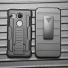 (002-168)เคสมือถือ Case LG Nexus 5X เคสนิ่ม+พื้นหลังประกบแบบพลาสติก+มีขาตั้ง+ที่เหน็บเอวสไตล์กันกระแทก