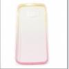 (พร้อมส่ง)เคสมือถือซัมซุง Case Samsung S6 edge เคสพลาสติกใสไล่โทนสีเหลืองโรส