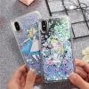 (436-405)เคสมือถือไอโฟน Case iPhone X เคสขอบนิ่ม Glitter ทรายดูดหัวใจลายอลิซในแดนมหัศจรรย์