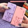 (391-062)เคสมือถือไอโฟน 4/4s Case iPhone เคสนิ่มสมุดเปิดข้างลายแมวน่ารักๆ DOMI CAT