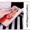 (559-009)เคสมือถือซัมซุง Case Samsung S6 Edge Plus เคสนิ่มพื้นหลังแววประดับแหวนโลหะคริสตัล