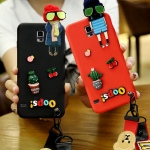 (723-002)เคสโทรศัพท์มือถือซัมซุง Samsung S5 เคสนิ่มตุ๊กตาหัวเกาะ Hang Rope
