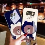 (762-006)เคสมือถือซัมซุง Case Samsung Galaxy Note8 เคสนิ่มหมีบราวน์