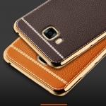 (025-348)เคสมือถือซัมซุง Case Samsung C7 Pro เคสนิ่มขอบชุบแววพื้นหลังลายหนัง