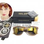 แว่นกันแดด SKULL RIDER รุ่น Matt Camel Gold <Skull-04>