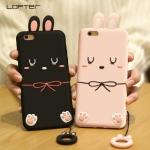 (688-004)เคสมือถือไอโฟน Case iPhone 6Plus/6S Plus เคสนิ่มตุ๊กตากระต่าย 3D น่ารักๆ