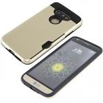 (002-134)เคสมือถือ Case LG G5 เคสนิ่มเกราะพลาสติกมีช่องใส่การ์ดสไตล์กันกระแทก