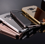 (025-171)เคสมือถือซัมซุง Case Core Prime เฟรมโลหะพื้นหลังอะคริลิคพลาสติกทอง 24K