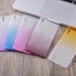 (436-102)เคสมือถือโซนี่ Case Sony Xperia X Performance เคสนิ่มไล่โทนสีพื้นหลัง Glitter กากเพชร