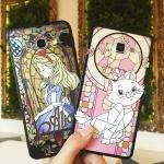 (691-003)เคสมือถือซัมซุง Case Samsung A8 เคสขอบนิ่มพื้นหลังพลาสติกกึ่งโปร่งใสโมเสกการ์ตูน