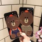 (025-986)เคสมือถือไอโฟน Case iPhone 6Plus/6S Plus เคสนิ่มหมีไลน์ Glitter