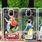 (151-328)เคสมือถือซัมซุงโน๊ต Case Note4 เคสพลาสติกใสทรายดูด Disney Princess