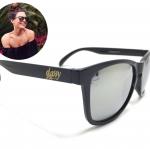แว่นกันแดด Glassy Sunhaters Deric Black/Silver Mirror 54-18 140 <ปรอทเงิน>