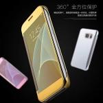 (390-035)เคสมือถือซัมซุง Case Samsung A7 (2016) เคสพลาสติกกึ่งโปร่งใส Clear View Cover