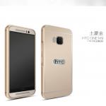 (025-126)เคสมือถือ HTC one M9 เคสกรอบบัมเปอร์โลหะฝาหลังอะคริลิคทูโทน