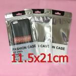 (422-003)ซองซิปพลาสติกใส่เคสโทรศัพท์ขนาด 11.5X21 cm จำนวน 100 ซอง หน้าใสตัวหนังสือหลังขุ่นซองฟอยล์ซิปล็อค