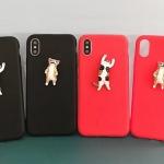 (436-425)เคสมือถือไอโฟน Case iPhone X เคสนิ่มแมวเกาะ