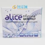 Alice Silicone Monthly คอนแทคเลนส์ใส รายเดือน วัสดุซิลิโคนไฮโดรเจล