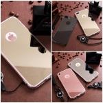 (025-984)เคสมือถือไอโฟน Case iPhone 7 Plus/8 Plus เคสนิ่มพื้นหลังแววกึ่งกระจกเรียบหรู พร้อมสายคล้องคอถอดแยกสายได้