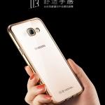 (436-164)เคสมือถือซัมซุง Case Samsung A3 2017 เคสนิ่มใสขอบทอง