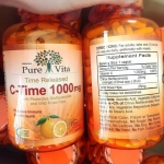Pure Vita C-Time 1000mg เพียว ไวต้า วิตามินซี 1000 มิลลิกรัม