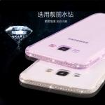 (360-007)เคสมือถือซัมซุง Case Samsung Galaxy J7 เคสนิ่มใสขอบประดับคริสตัลเพชร