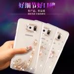 (360-002)เคสมือถือซัมซุง Case Note5 เคสพลาสติกแข็งใสประดับคริสตัลลายสวยๆ สไตล์ 3D