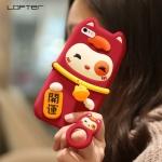 (688-002)เคสมือถือไอโฟน Case iPhone 6Plus/6S Plus เคสนิ่มตุ๊กตาแมวนำโชค 3D น่ารักๆ