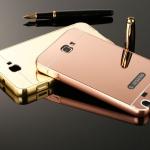 (589-002)เคสมือถือ Samsung Galaxy Note1 เคสกรอบโลหะพื้นหลังแววคล้ายกระจก
