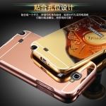 (025-145)เคสมือถือ Samsung Galaxy Note2 เคสกรอบโลหะพื้นหลังอะคริลิคเคลือบเงาทองคำ 24K