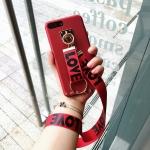 (พร้อมส่ง)เคสมือถือไอโฟน Case iPhone 6Plus/6S Plus เคพลาสติกเมทัลลิคพร้อมสาย LOVELOVE