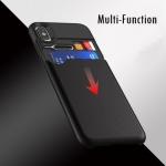 (750-001)เคสมือถือไอโฟน Case iPhone X เคสนิ่มคลุมเครื่องกันกระแทกด้านหลังมีช่องเก็บของสไตล์ Multi Function