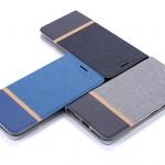 (651-003)เคสมือถือ Case Huawei P9Lite/G9Lite เคสนิ่มฝาพับวัสดุหนัง TPU ลายผ้ายีนส์หุ้มเหล็กด้านใน ฝาพับสามารถตั้งโทรศัพท์ได้