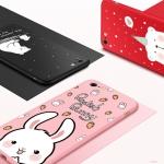 (690-001)เคสมือถือไอโฟน Case iPhone 6/6S เคสพลาสติกคลุมเครื่องลายการ์ตูนด้านหน้ากระจกนิรภัย