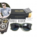 แว่นกันแดด SKULL RIDER รุ่น Green Leopard Blue Shadow <Skull-17>