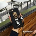 (พร้อมส่ง)เคสมือถือไอโฟน Case iPhone 6/6S เคพลาสติกเมทัลลิค LOVELOVE