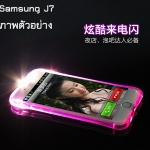 (502-013)เคสมือถือซัมซุง Case Samsung J7 เคสนิ่มใสสไตล์กันกระแทกเปิด Flash LED